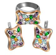 Оптом ювелирные украшения из серебра с золотыми накладками