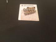 Золотые серьги с якутскими бриллиантами. Бренд ЭПЛ даймонд.